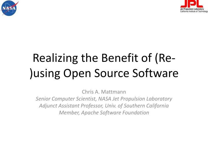 realizing the benefit of re using open source software n.