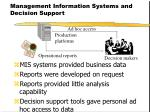 management information systems and decision support