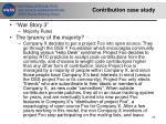 contribution case study