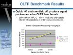 oltp benchmark results