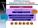 veritas solution database edition for sybase