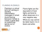 flaming in emails