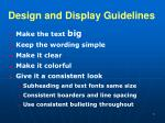 design and display guidelines