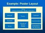 example poster layout