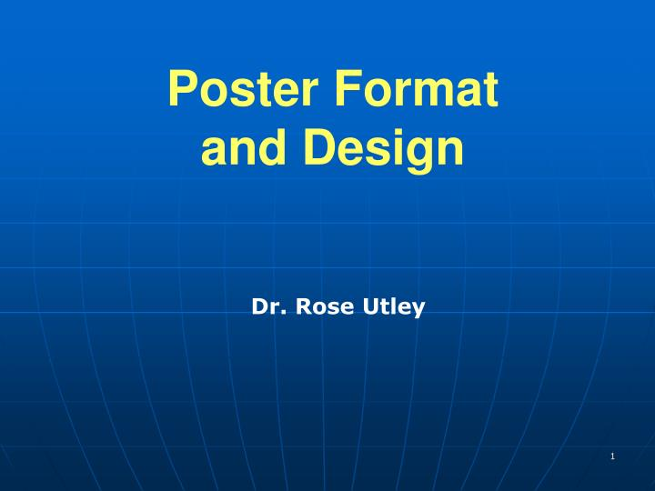 poster format and design n.
