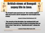 british views of bengali sepoy life in java