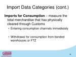 import data categories cont1