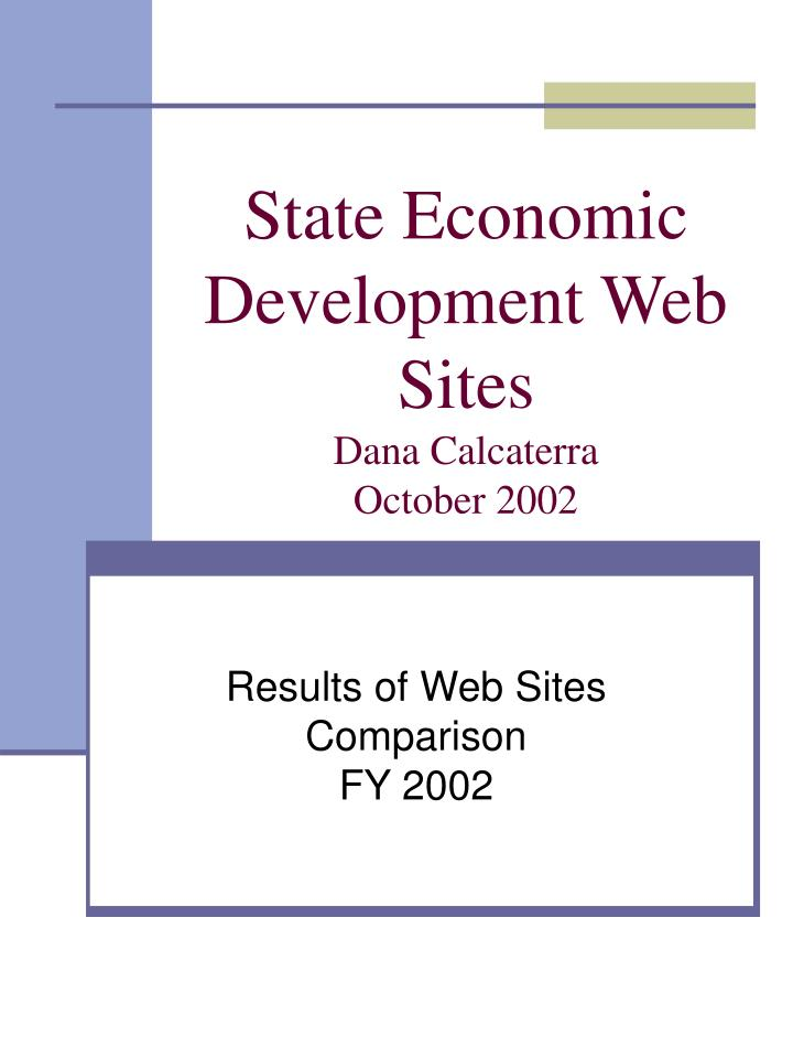 state economic development web sites dana calcaterra october 2002 n.