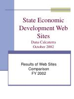 state economic development web sites dana calcaterra october 2002