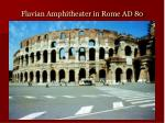 flavian amphitheater in rome ad 80