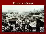 rome ca ad 100