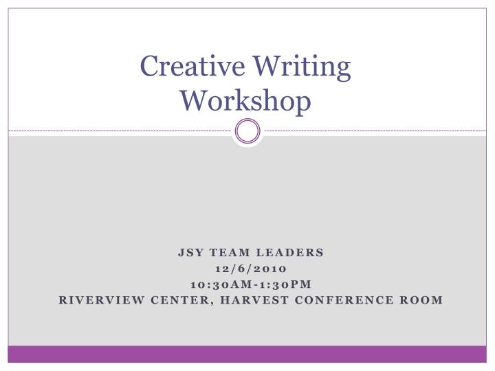 creative writing workshop n.