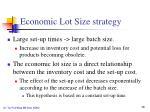 economic lot size strategy