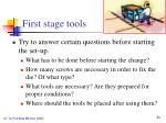 first stage tools2