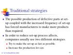 traditional strategies1