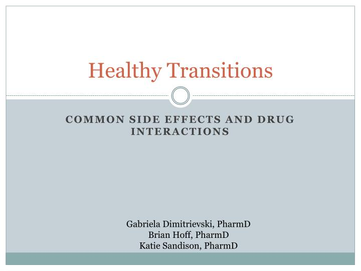 healthy transitions n.