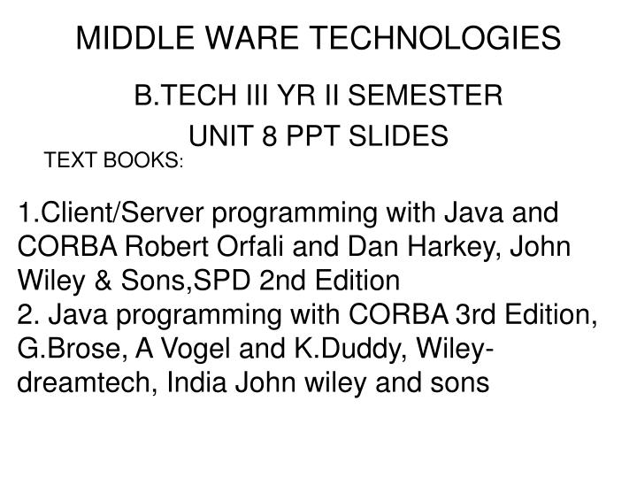 middle ware technologies n.