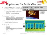 application for earth missions