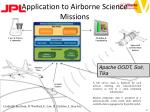 application to airborne science missions