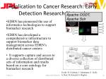 application to cancer research early detection research network