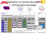 application to climate research climate data exchange