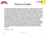 free as in beer