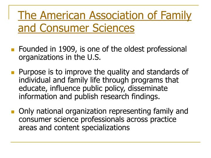 The American Association of Family and Consumer Sciences