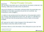 partial private circuits