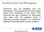 feedback from the participants