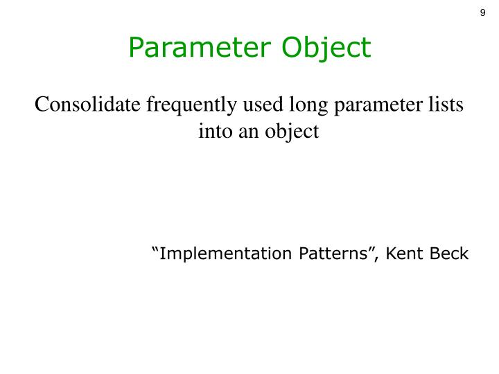 Parameter Object