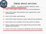 datas about services 2010 yearbook of welfare statictics 2010