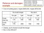 reliance and damages example1