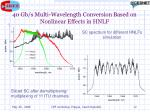 40 gb s multi wavelength conversion based on nonlinear effects in hnlf8