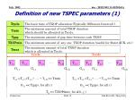 definition of new tspec parameters 1