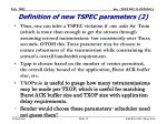 definition of new tspec parameters 2