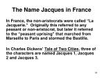 the name jacques in france