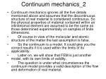 continuum mechanics 2