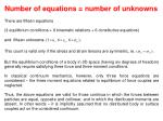 number of equations number of unknowns