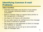 identifying common e mail problems2