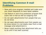 identifying common e mail problems8