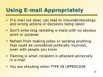 using e mail appropriately1