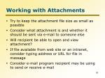 working with attachments