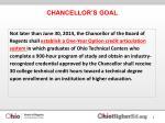 chancellor s goal