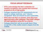 focus group feedback1