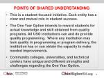 points of shared understanding