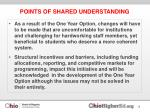 points of shared understanding1
