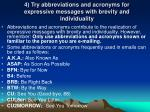 4 try abbreviations and acronyms for expressive messages with brevity and individuality