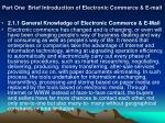part one brief introduction of electronic commerce e mail