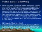 part two business e mail writing