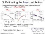 3 estimating the flow contribution